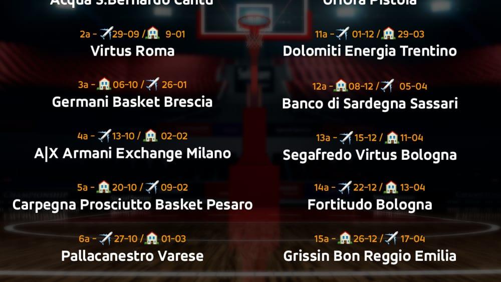 Calendario Europei Basket 2020.Brindisi Basket Diramato Il Calendario Del Campionato Di